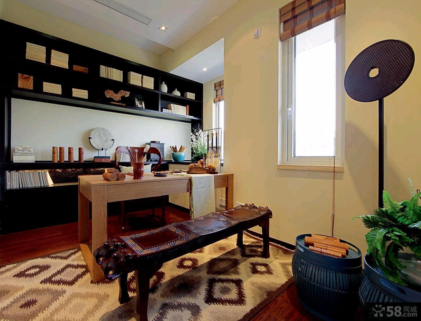 现代中式风格二居室装修效果图欣赏大全