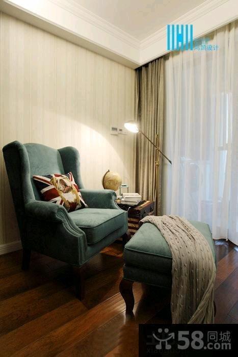 美式装修风格一居室家居客厅效果图大全2015