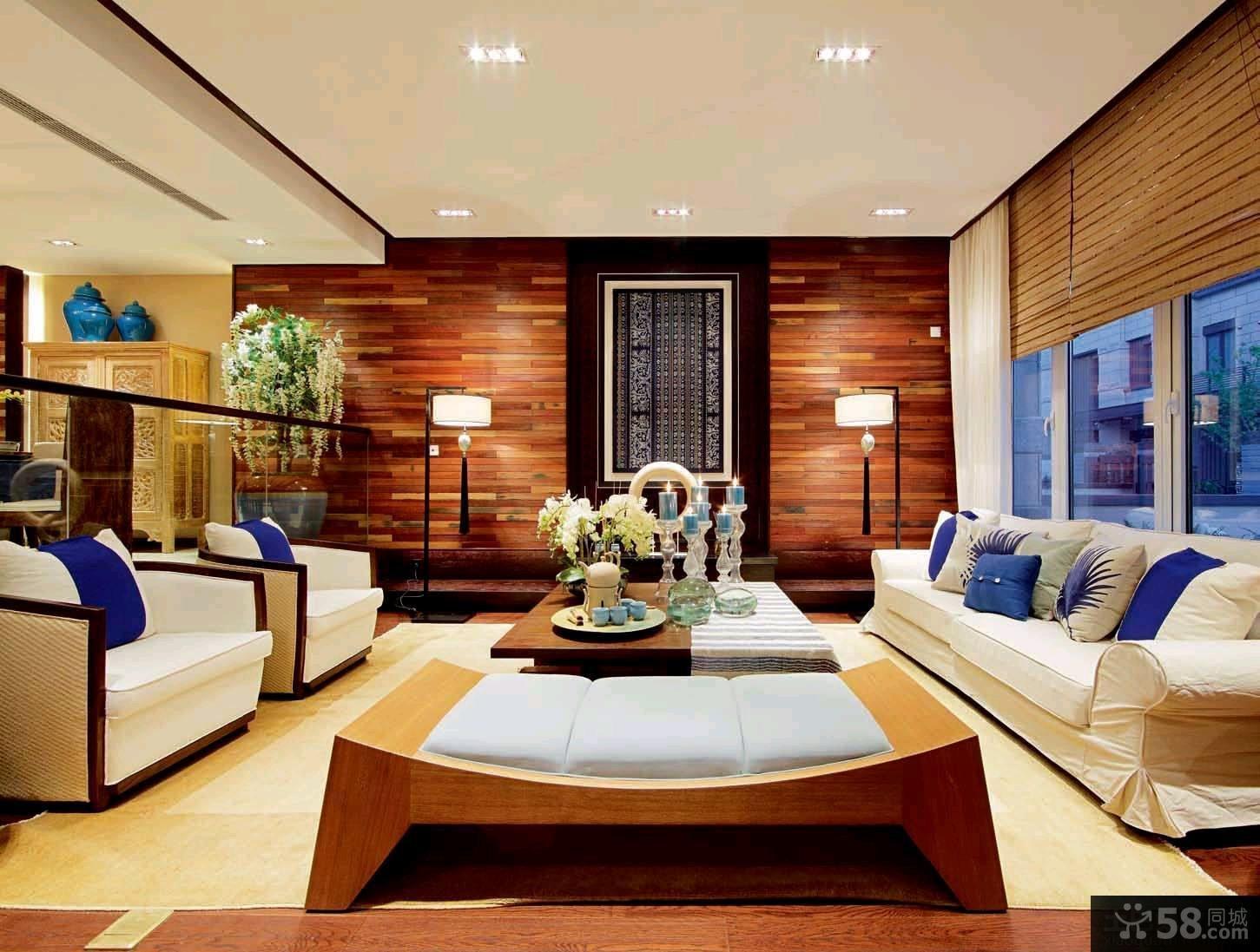 97平米中式风格二居室装修效果图片