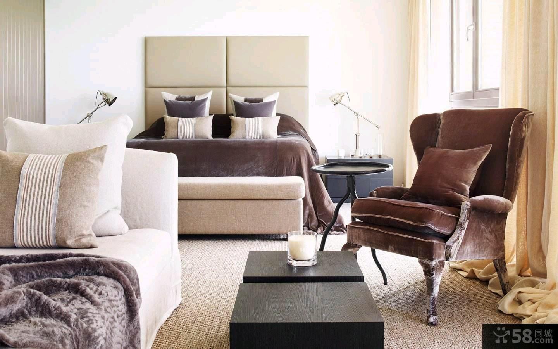 简欧装修风格三室两厅设计效果图大全欣赏
