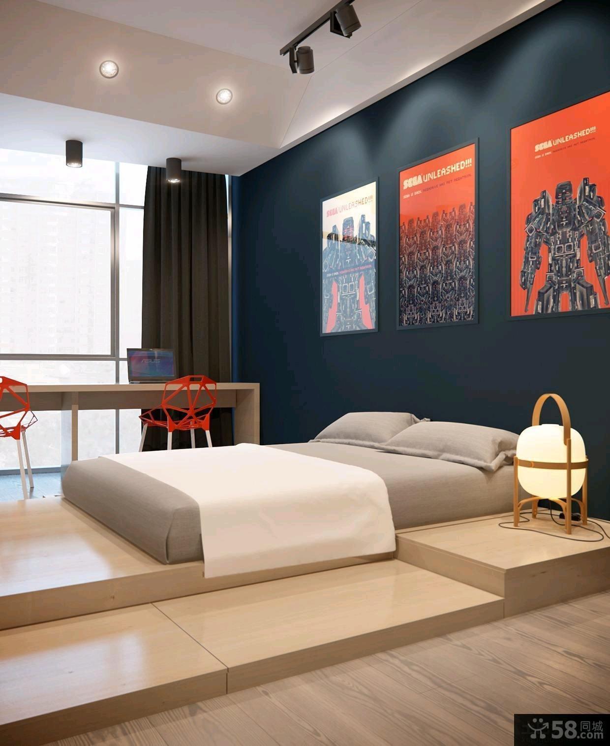 2014宜家风格130平米三居室装修效果图片