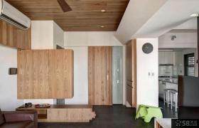简约家居78平米一室一厅装修效果图片