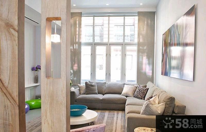 现代客厅隔断图片欣赏