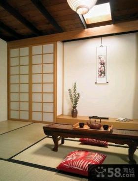 日式装修客厅榻榻米效果图