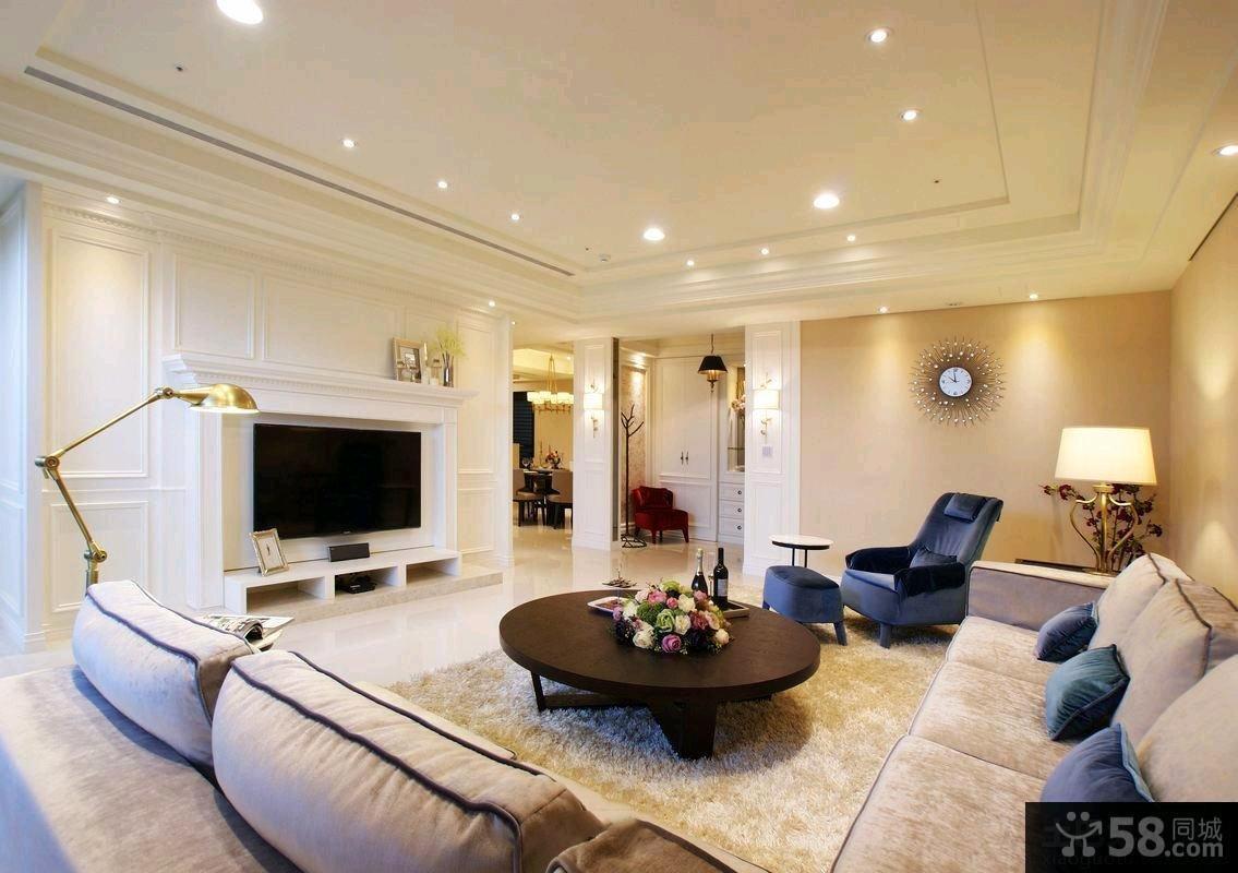 2015简欧风格客厅装修效果图片