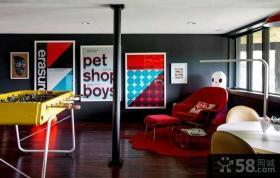 现代创意风格二居室装修效果图欣赏