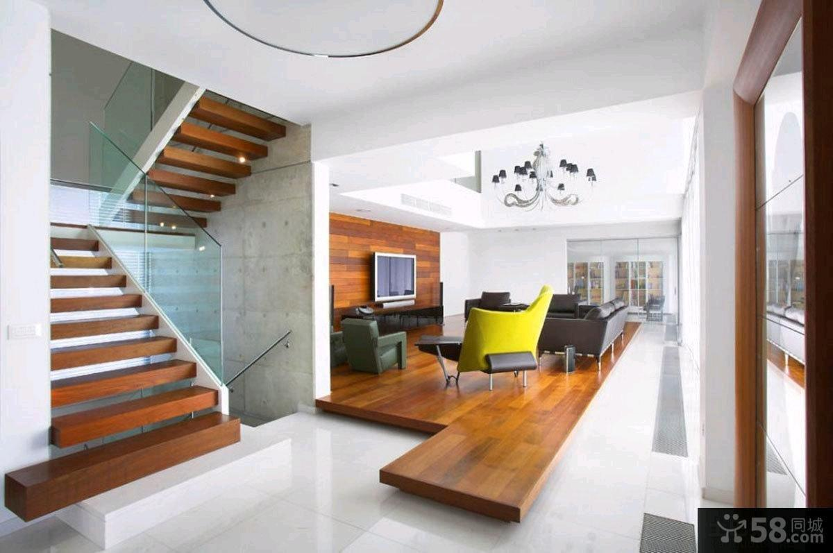 58 for Interior design of living room with stairs