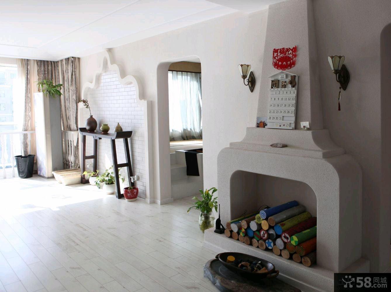 简欧风格75平米一居室装修图片大全2014图片