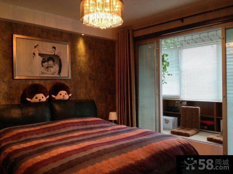 现代婚房卧室吊顶效果图