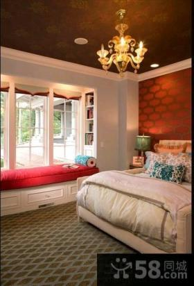 欧式别墅卧室飘窗效果图欣赏