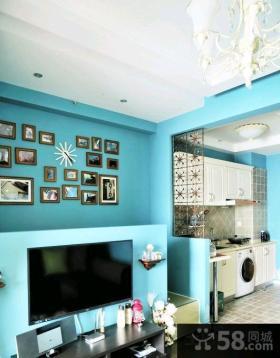 地中海风格小户型婚房客厅效果图