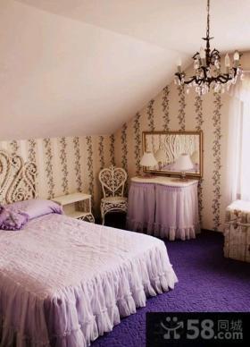 斜顶阁楼带卧室装修效果图大全