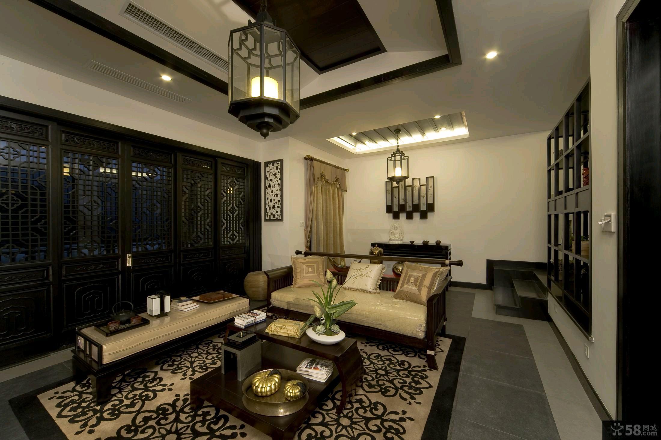 古典中式四居室客厅装修效果图