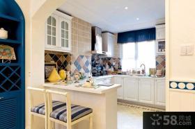 家居厨房实木橱柜图片欣赏