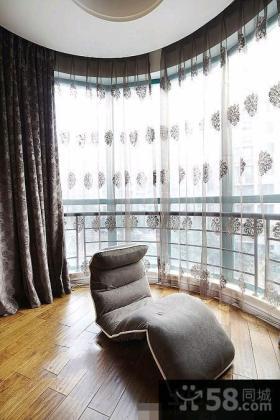 宜家风格卧室窗帘效果图