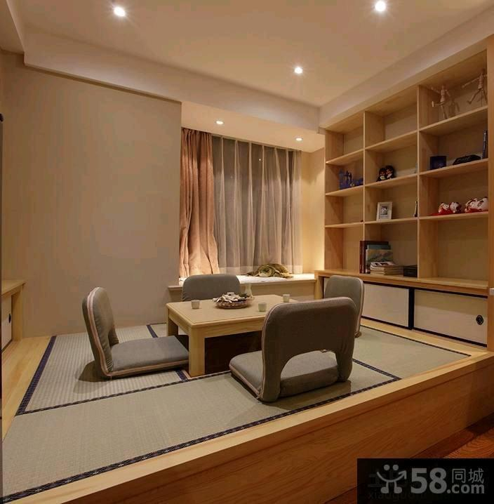 中式房间榻榻米装修效果图