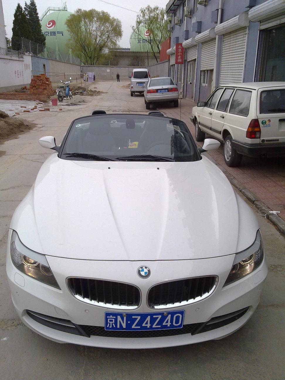 白色宝马z4敞篷跑车- 北京德仁婚庆车队