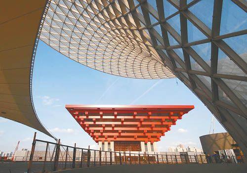 创意空间 世博会展示科技创新成果 场馆建设集聚环保技术高清图片