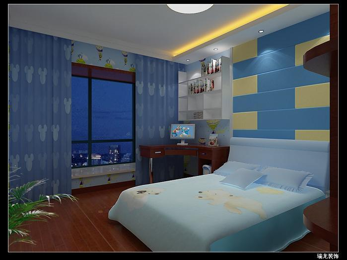 男孩房间设计的效果图展示 合肥瑞龙装饰工程有限公司