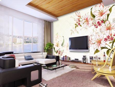 壁画室内效果图 阿玛尼壁纸山东分公司