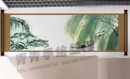 潍坊室外墙体彩绘 高清图片
