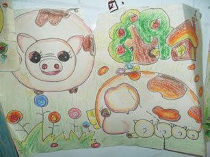 猪妈妈的一家 简笔画