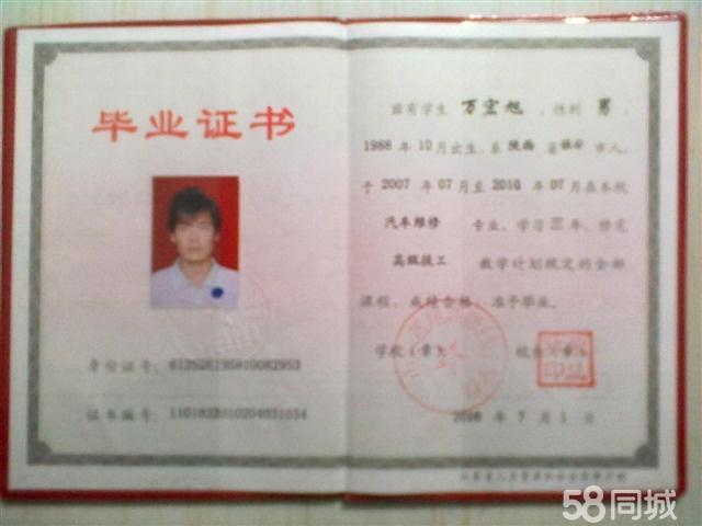 万宏旭专业证书