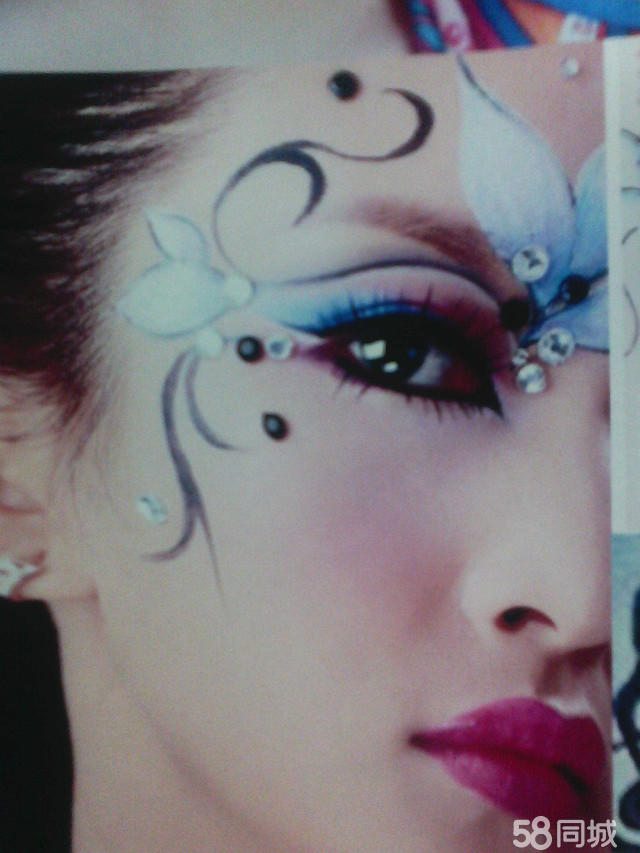 t台妆 创意妆面 人体彩绘 时尚彩妆 时尚彩妆妆面造型图-眼部彩绘创