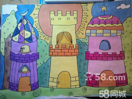 三年级小学生画儿童画图片