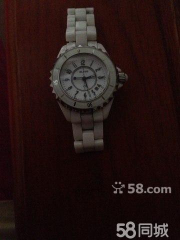 正品香港欧利时白色陶瓷女士手表