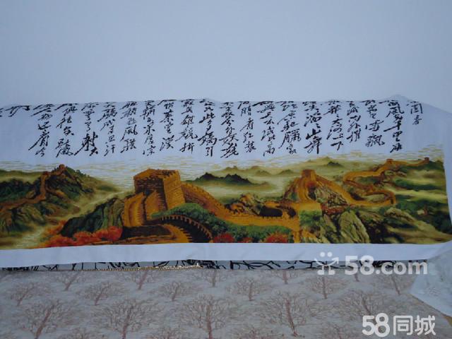精品十字绣盛世长城沁园春雪 高清图片