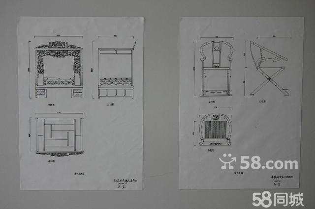 可以手绘家具效果图及三视图