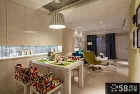 现代两室一厅室内色彩搭配装修效果图大全2014图片