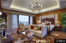 欧式古典风格大卧室精装效果图