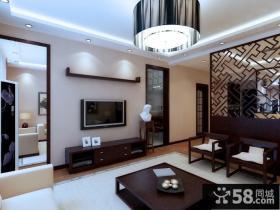 中式风格室内客厅吊顶装修效果图大全2012图片