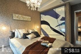 卧室精美碎花壁纸图片欣赏