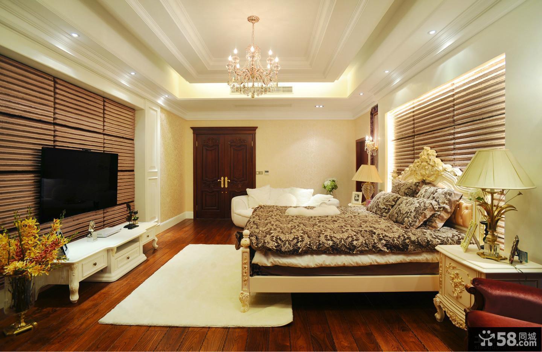 现代欧式风格别墅客厅背景墙效果图