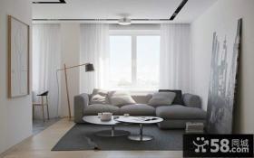 后现代日式风格沙发背景墙装修图片