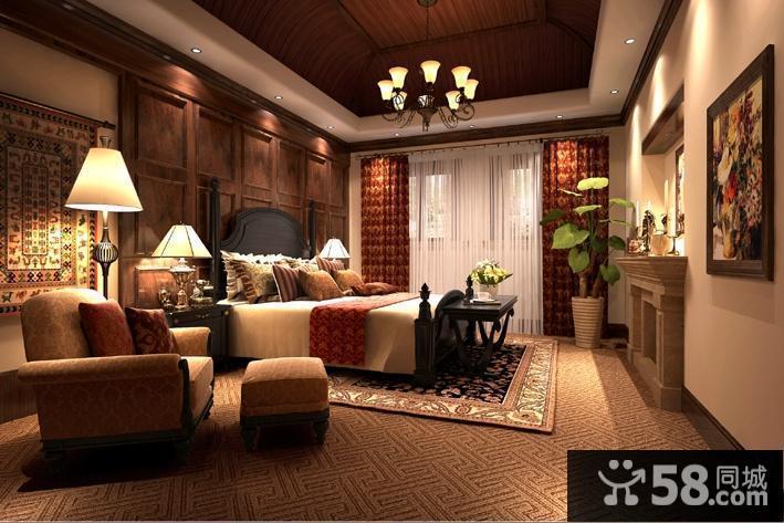别墅卧室灯具图片欣赏