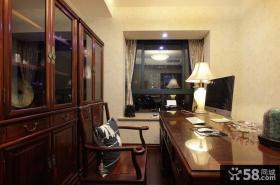 中式书房装修效果图大全2014图片