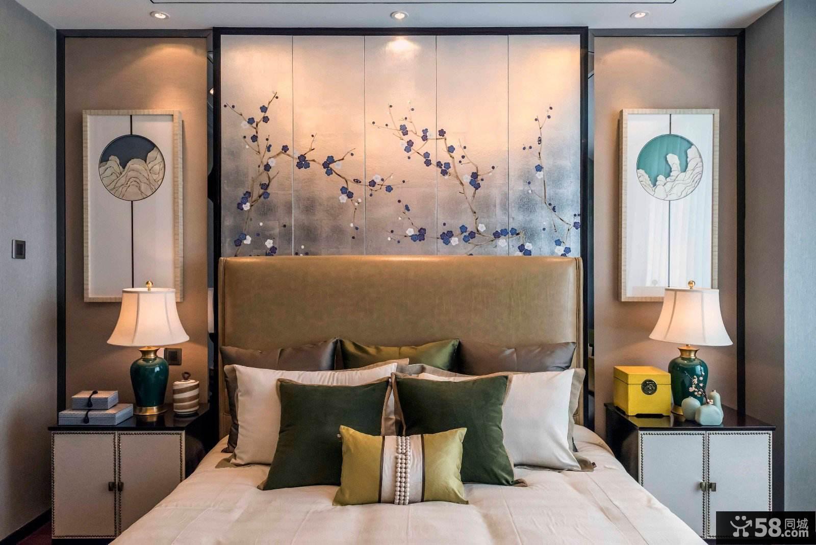 典雅新中式卧室装修设计