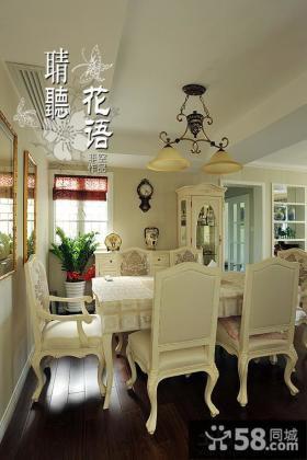 欧式餐厅实木桌椅图片
