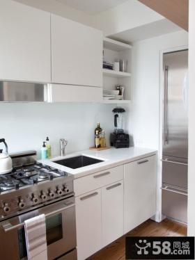 极简风格小厨房设计效果图