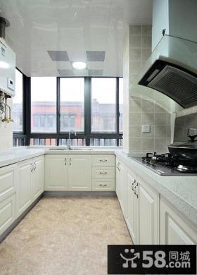 明亮厨房集成吊顶装修效果图