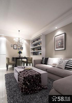 时尚简约家居一居室小户型装修效果图欣赏