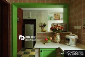 美式乡村风格厨房橱柜效果图
