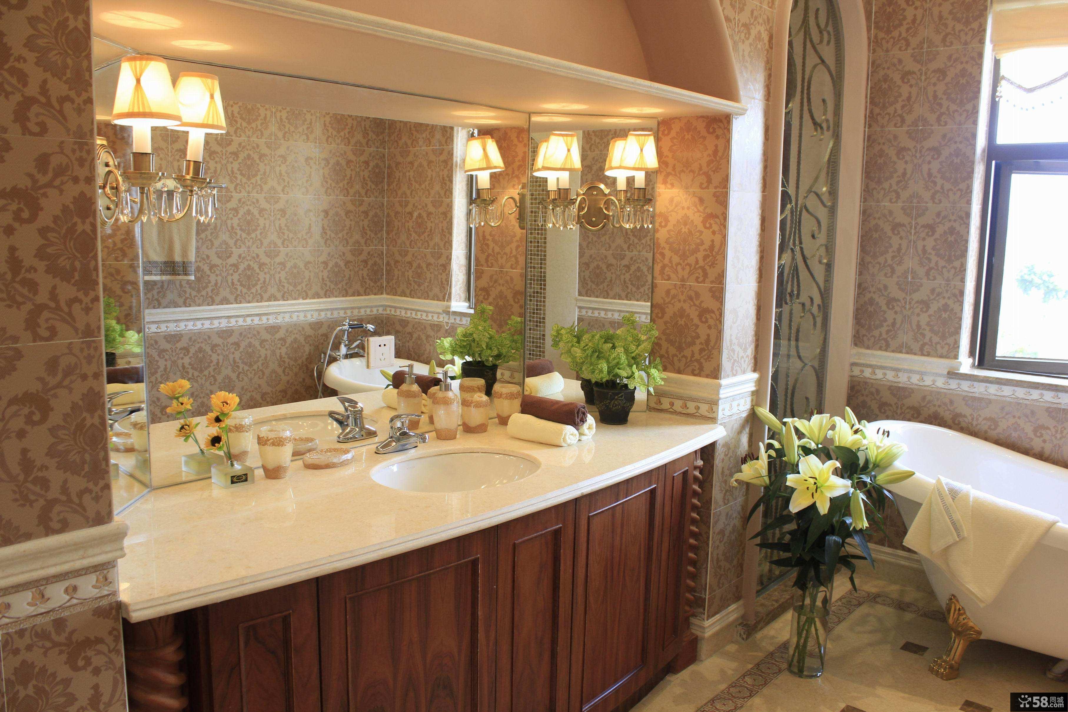 美式家装设计卫生间图片欣赏