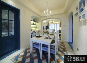 地中海风格家居时尚餐厅效果图