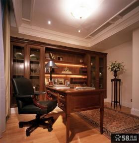美式书房装修效果图大全2014图片