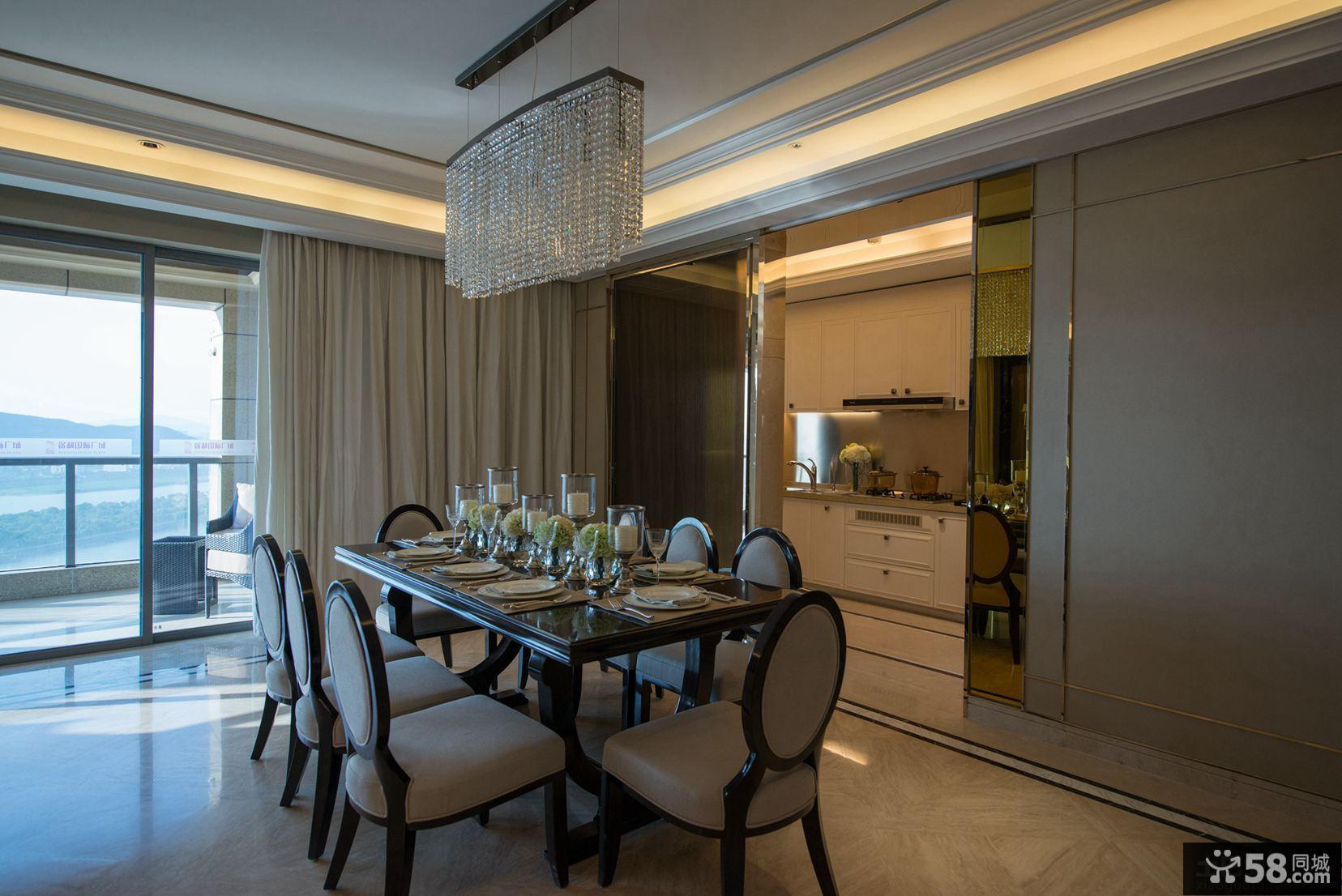 现代新古典风格餐厅设计图片